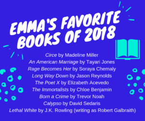 Emma's Favorite Books of 2018